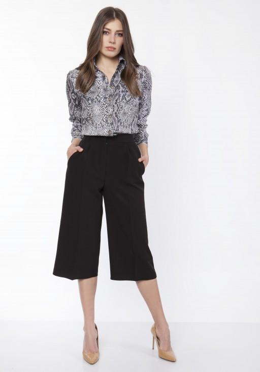 Spodnie damskie kuloty, SD118 czarny