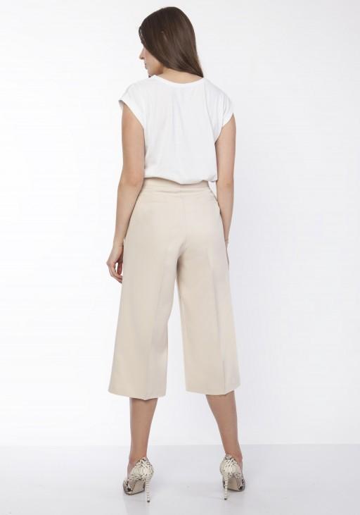 Spodnie damskie kuloty, SD118 beż