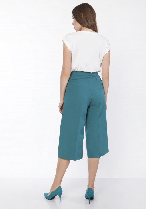 Women's culotte pants , SD118 emerald green