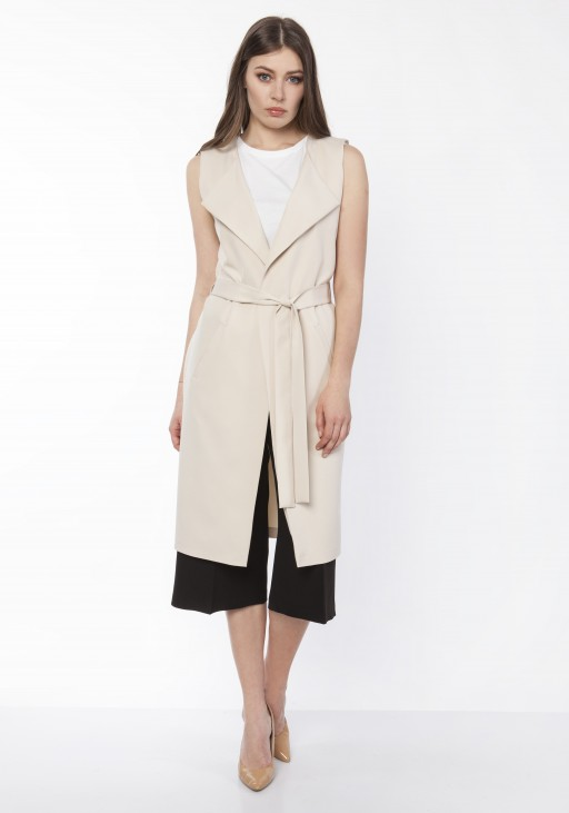 Elegant vest, KM104 beige