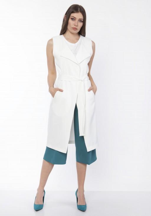 Elegant vest, KM104 ecru