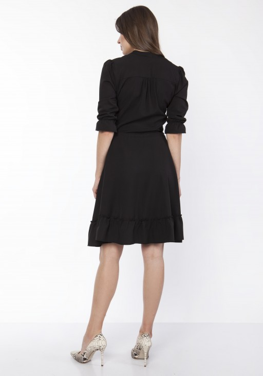 Dress with frill, SUK169 black