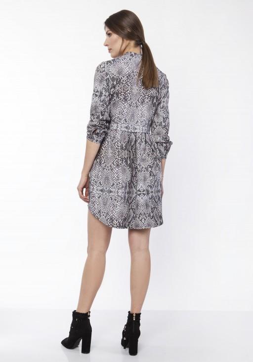 Sukienka koszulowa, SUK162 wąż