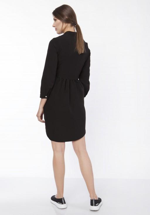 Sukienka koszulowa, SUK163 czarny