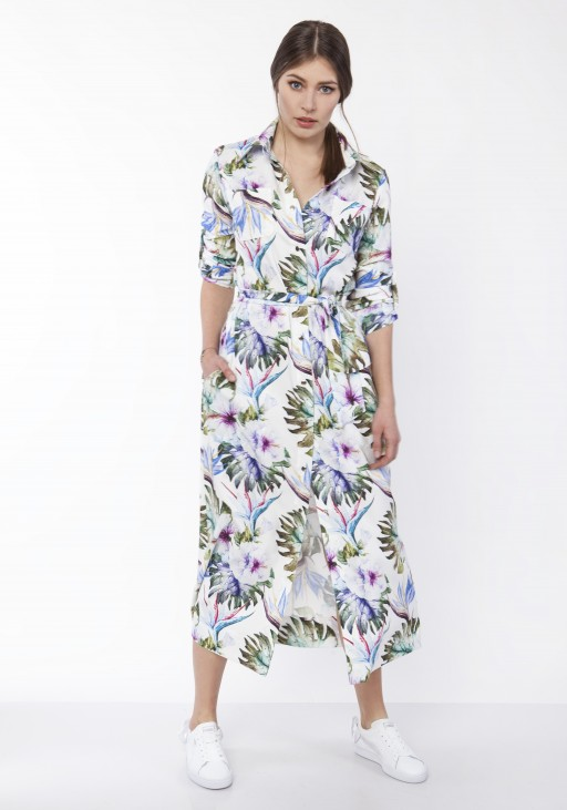 Maxi dress , SUK159 leaves