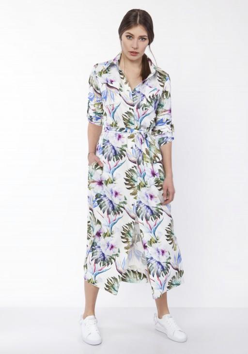 Maxi dress , SUK159 leaves