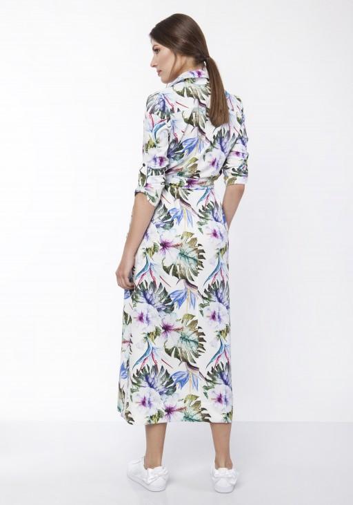 Sukienka maxi, SUK159 liście