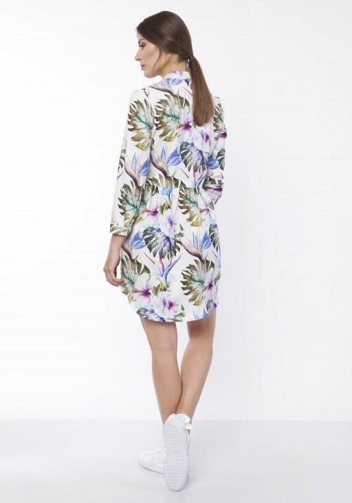 Sukienka koszulowa, SUK162 liście