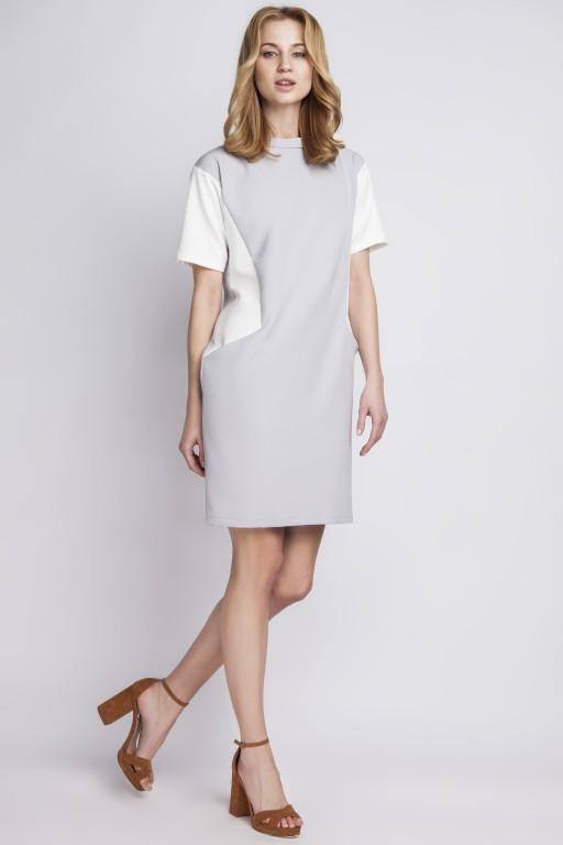 Sukienka z kieszeniami, SUK124 szary