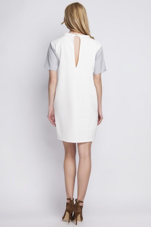 Sukienka z kieszeniami, SUK124 ecru
