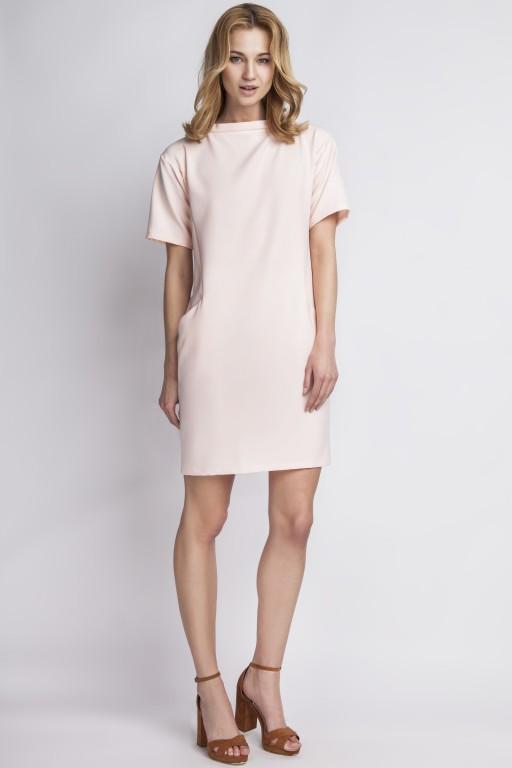 Sukienka z kieszeniami, SUK124 róż