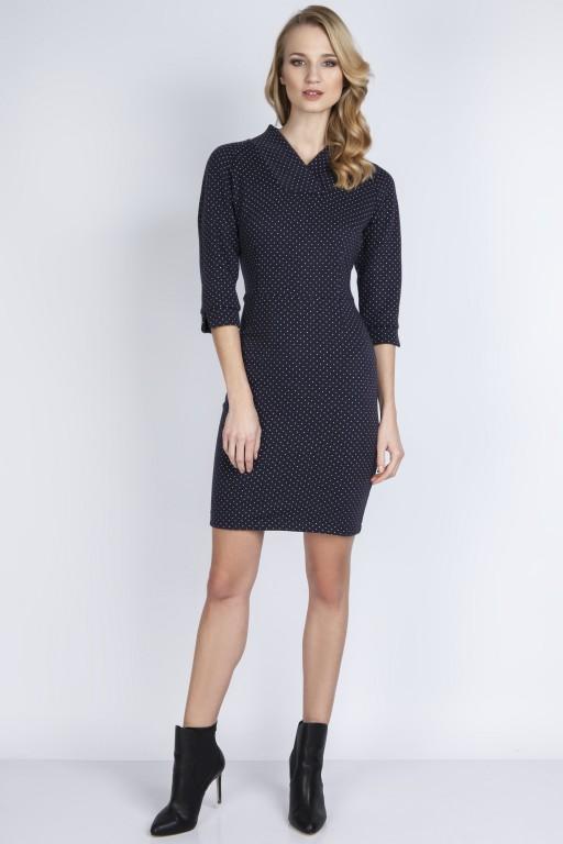 Sukienka w groszki, SUK133 szary