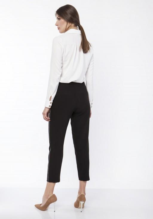 Koszula damska z dłuższym tyłem, K113 ecru