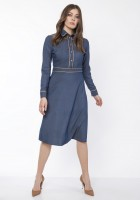 Elegant dress with a collar, SUK166 jeans
