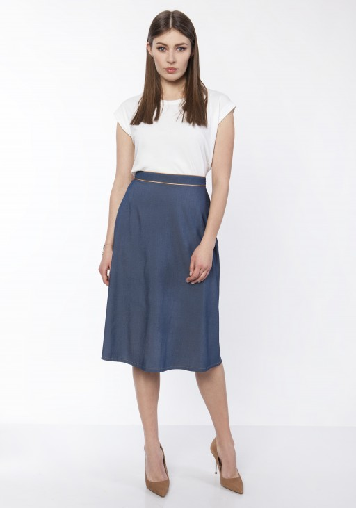 Klasyczna rozkloszowana spódnica, SP120 jeans