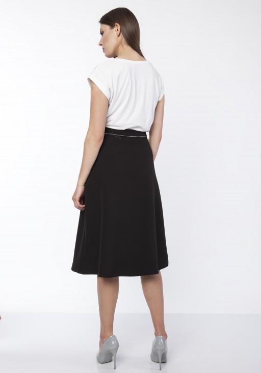Klasyczna rozkloszowana spódnica, SP122 czarny
