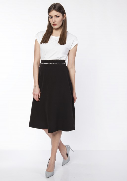 Classic flared skirt, SP120 jeans, SP122 black