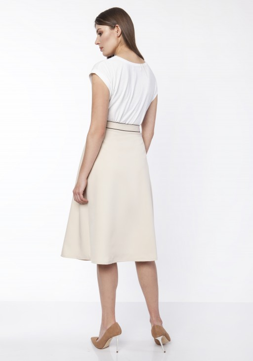 Classic flared skirt, SP122 beige