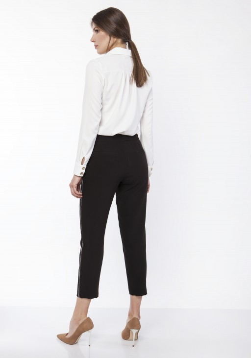 Pants with decorative stripes, SD116 black