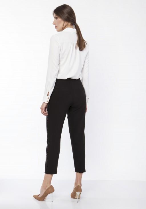 Spodnie z ozdobnymi lampasami, SD116 beż