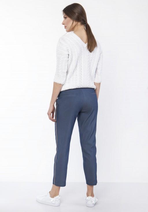 Spodnie z ozdobnymi lampasami, SD117 jeans