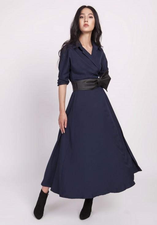 Długa sukienka, SUK172 granat