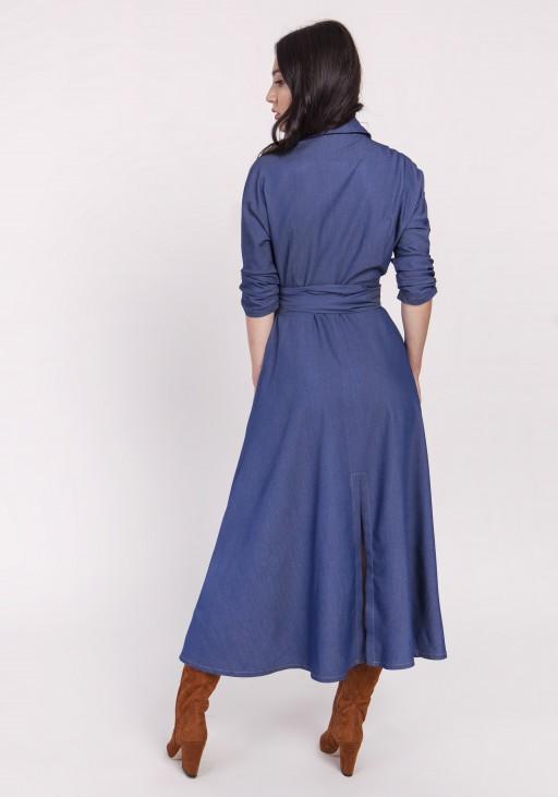 Długa sukienka, SUK173 jeans