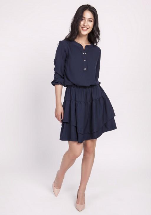 Maxi dress, SUK171 leaves
