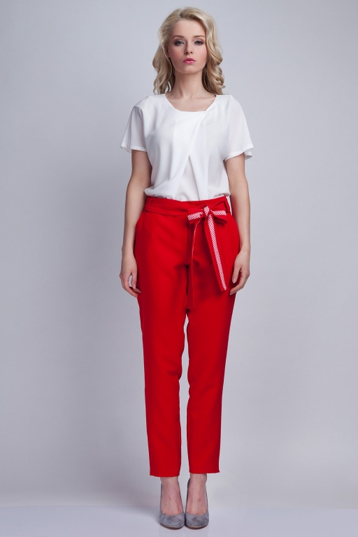 Trousers with sash, SD109 red