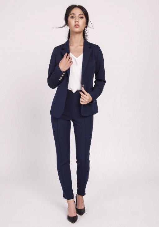 Classic women's jacket, ZA118 navy blue