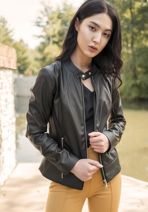 Jacket in soft eco-leather, KR103 black
