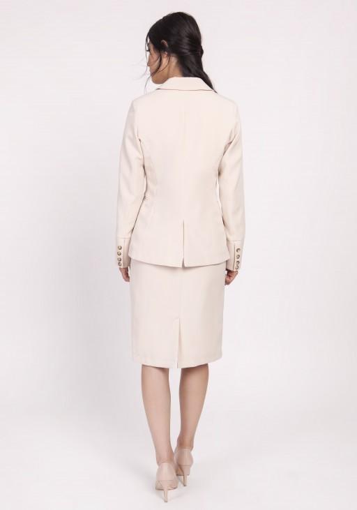 Classic women's jacket, ZA118 beige