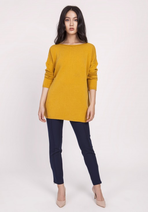 Knitted blouse, SWE121 mustard