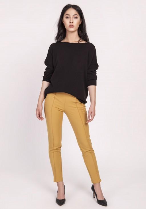 Dzianinowa bluzka, SWE121 czarny