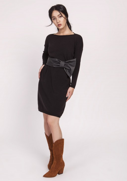 Knitted dress, SWE122 black