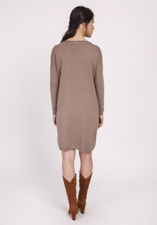 Knitted dress, SWE122 mocca