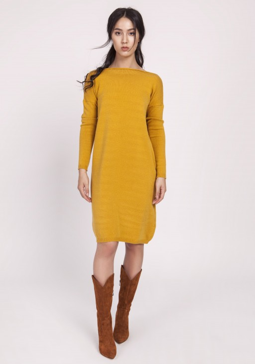 Knitted dress, SWE122 mustard