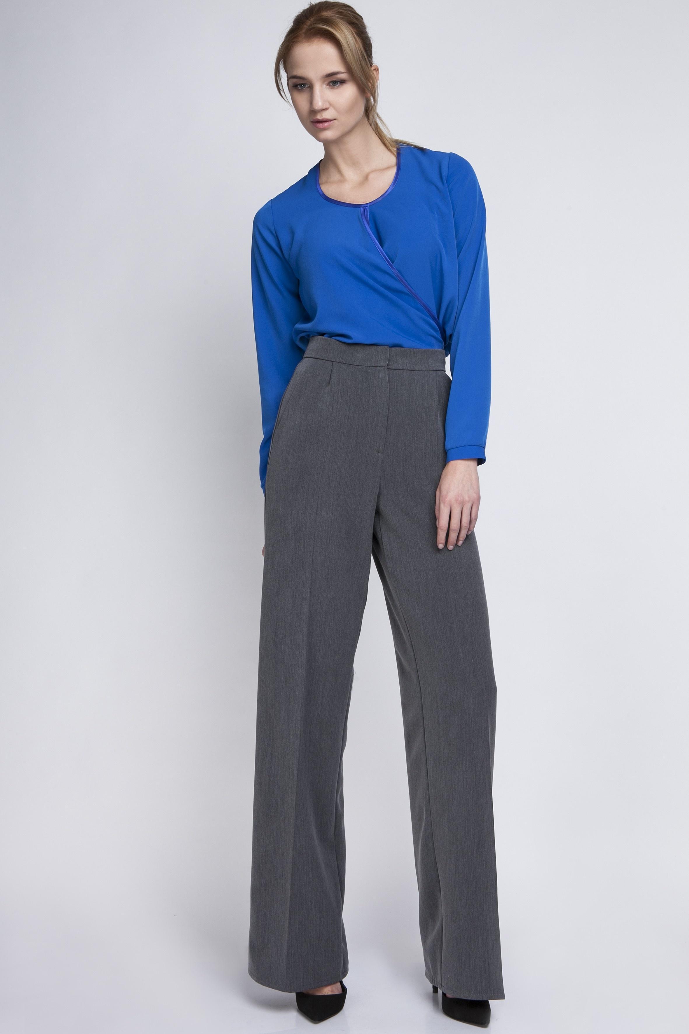 67dcb0a197663e Klasyczne spodnie z wysokim stanem, SD111 grafit. Spodnie, SD111 grafit.  Loading zoom