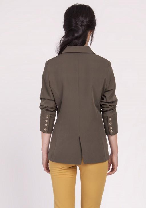 Klasyczny damski żakiet, ZA118 khaki
