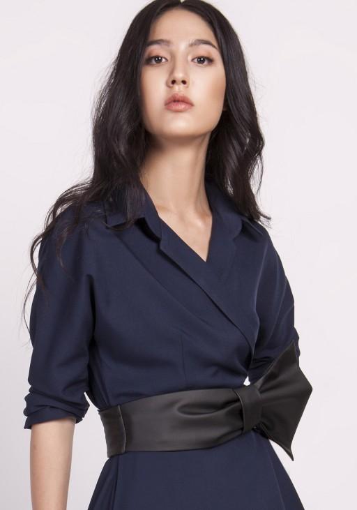 Belt made of soft eco-leather black
