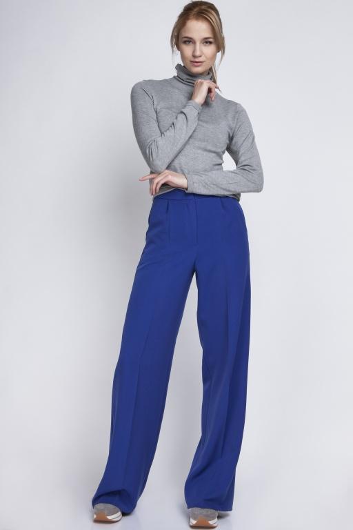 Szerokie spodnie z wysokim stanem, SD111 indygo