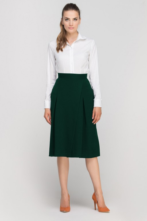 Flared skirt over the knee, SP118 green
