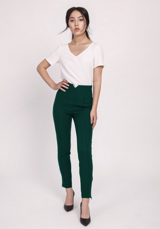 High-waisted pants, SD112 green