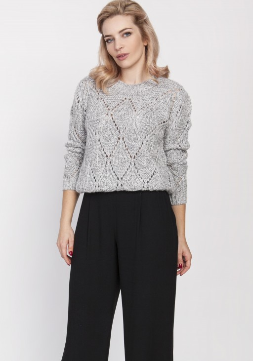 Openwork sweater, SWE123 grey