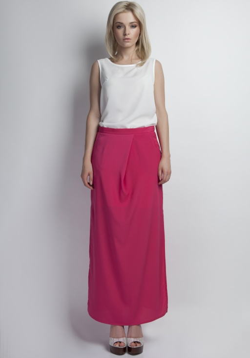 Maxi skirt, SP108 fuchsia