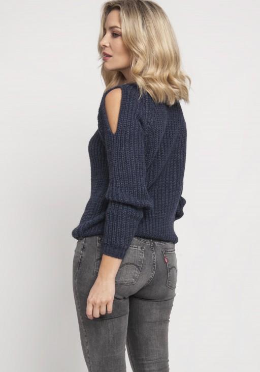 Raglanowy sweter, SWE126 granat