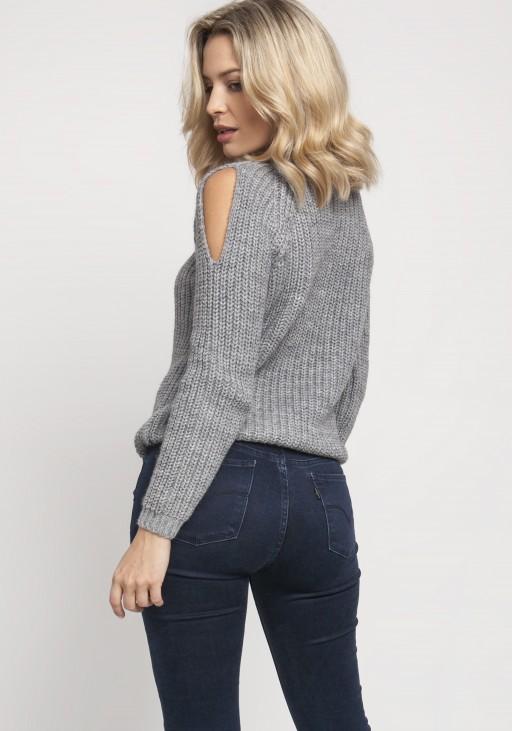 Raglanowy sweter, SWE126 szary