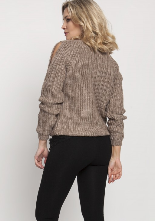 Raglanowy sweter, SWE126 mocca
