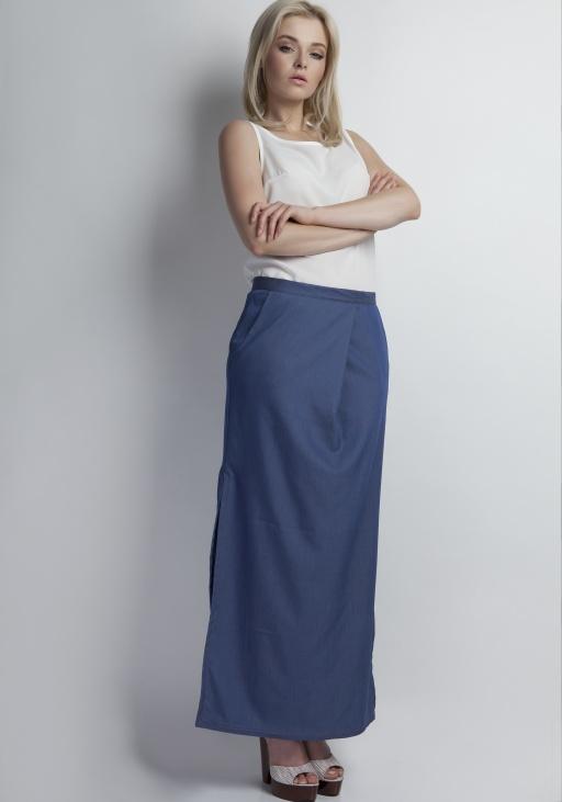 Spódnica maxi jeansowa, SP109 jeans