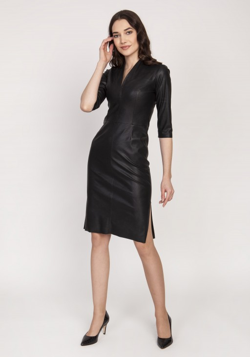 Leather dress, SUK178 black